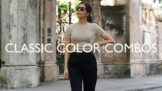 Classic Color Combinations That Always Look Chic