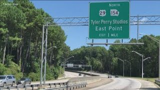 Tyler Perry Studios sign debuts on GA-166