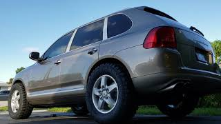 Porsche Cayenne turbo Offroad on air cycling