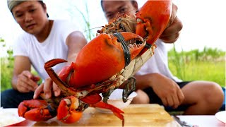 BACKYARD COOKING | DELICIOUS GIANT MUD CRAB | SEAFOOD MUKBANG