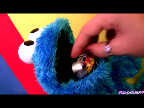 Count N Crunch Cookie Monster Eating Angry Birds Disney Cars Lightning McQueen Mater Cars2 Squinkies