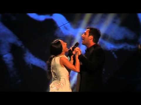 2nd rehearsal Georgia: Nodiko Tatishvili & Sopho Gelovani - Waterfall (Eurovision 2013)