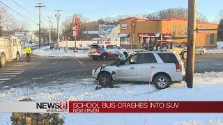 10 injured in New Haven school bus crash