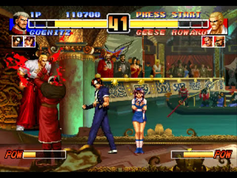 The King of Fighters 96 - PSX [Full Game] Kyo, Athena e Goenitz