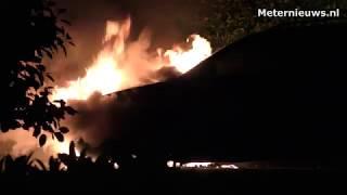 Auto in brand Assen