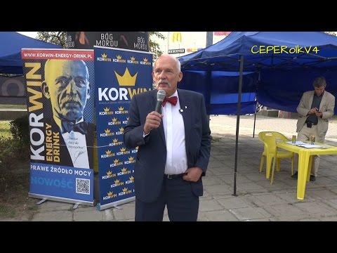 Janusz Korwin-Mikke w Radomiu (o imigrantach) 11.09.2015