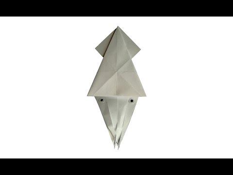 Кальмар оригами схема+ видео