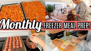 EASY Monthly Freezer Meal Prep | Easy Meals For Large Family