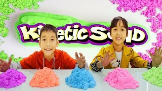 Kids Go To School Learn Colors with Kinetic Sand House Finger Family Nursery Rhymes Songs
