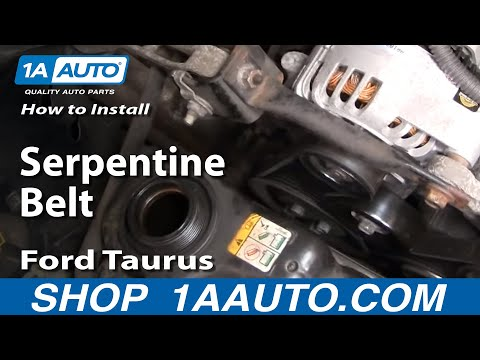 How To Install Replace Serpentine Belt Ford Taurus 3.0L V6 1AAuto.com