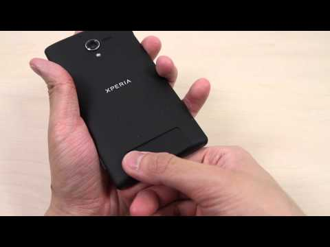 How to insert the Micro SIM card on Sony Xperia ZL