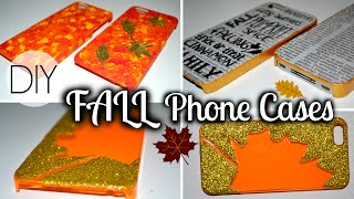 DIY Fall Phone Cases