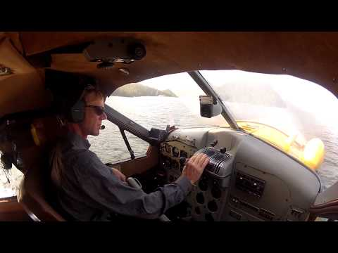 Taking off in a DeHavilland Beaver Floatplane with Jim the Pilot