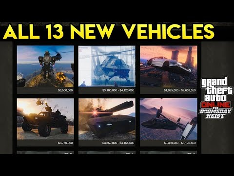 GTA Online: The Doomsday Heist - All 13 NEW Vehicles & What We Know About Them