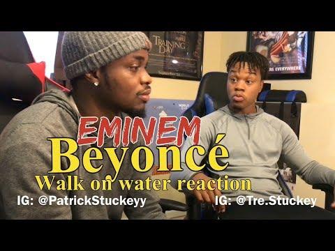 Eminem  Walk On Water Audio ft Beyoncé  REACTION