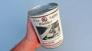 Fire Safety Blanket in a Can!?