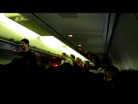 So here is something you don't hear everyday on the PA on your typical flight (least I hope not ha ha). How to you get a bunch a Flyertalkers to sit down? Yo...
