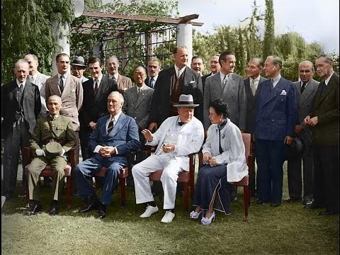 1943聯合國四大國在中東開會(開羅會議、德黑蘭會議)