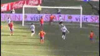 messy goal against spain in friendly match