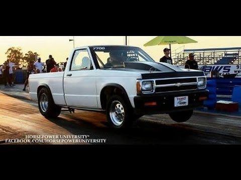 8 Second Chevy S10 Drag Truck E85 On Nitrous Youtube