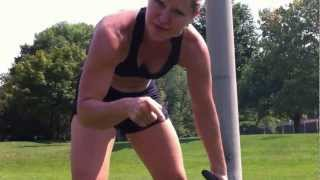 Great Bootcamp Workout- Bulgarian Bag & Rope Circuit with Agatsu Trainer Sara-Clare Lajeunesse