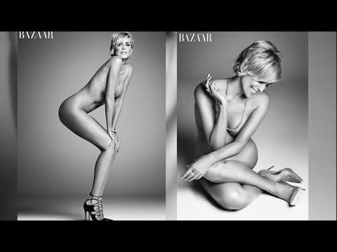 Sharon Stone Goes Completely Naked for Harper's BAZAAR ...