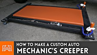 How to make an Auto Mechanics Creeper  Woodworking