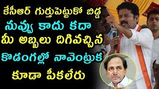 Revanth Reddy Comments on KCR | Revanth Reddy Speech | KTR | Telangana Politics | Top Telugu Media