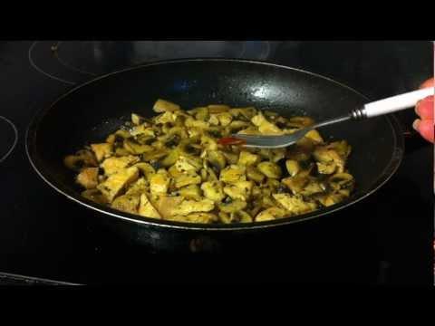 Recetas con pollo: pollo con champiñones fácil - riquísima receta de pollo con champiñones