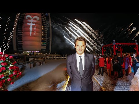 Roger Federer Launches Chinese New Year At Burj Al Arab In Dubai