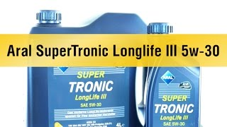 Моторное масло Aral SuperTronic Longlife III 5w-30