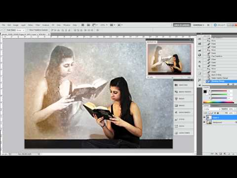 Photoshop Tutorial - Transparency effect