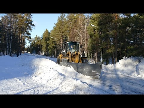 CAT 962K with YPV Ice ripping blade with sideplow ,Volvo L90F with flipperbucket