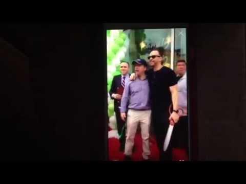 Donnie Wahlberg Periscope 6/23/15 Ribbon Cutting Coney Island