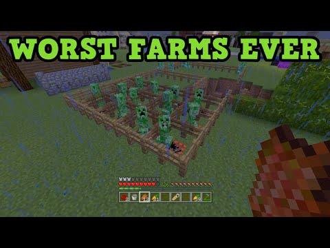 Minecraft - 5 AWFUL Impractical Farms (Worst Farms)