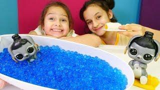 LOL bebekler. Bunny bakımı. Banyo yaptırıyoruz ve havuçlu kek yiyoruz