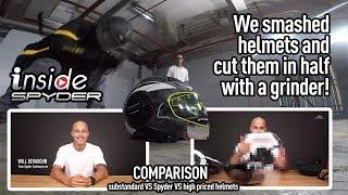 Inside Spyder Ep1 - THE COMPARISON : Substandard VS Standard VS High Priced Helmets