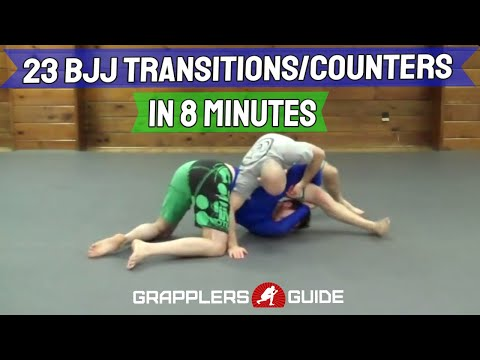 23 BJJ Transitions, Scrambles, and Counters in Less Than 8 Min - Jason Scully