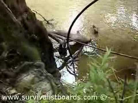 Pumping water from a stream