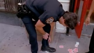 Officer Finds Card in Shoe: Street Magic | David Blaine
