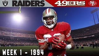 Jerry Rice's Record-Breaking Monday Night! (Raiders vs. 49ers, 1994) | NFL Vault Highlights