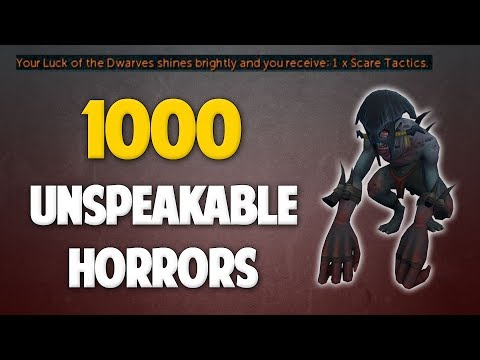 Runescape 2018   Loot from 1000 Unspeakable Horrors (NEW MONSTER!)