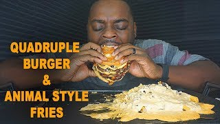 HOW TO MAKE BURGER + ANIMAL STYLE FRIES MUKBANG COOKING SHOW / EATING SHOW  먹방 | BEAST MODE