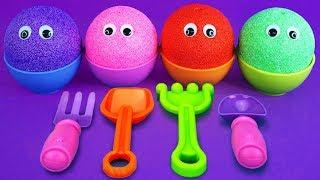 Play Foam Ice Cream Cups Doki Doki Squishy Unicorn Learn Colors Surprise Toys Kinder Surprise Egg