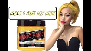 HOW I DYE MY HAIR || BLACK TO YELLOW