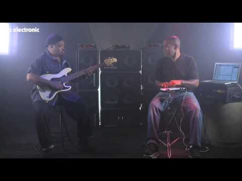 "TC Electronic bass stack behind Derrick ""Dock"" Murdock and David ""Fingers"" Haynes jam"