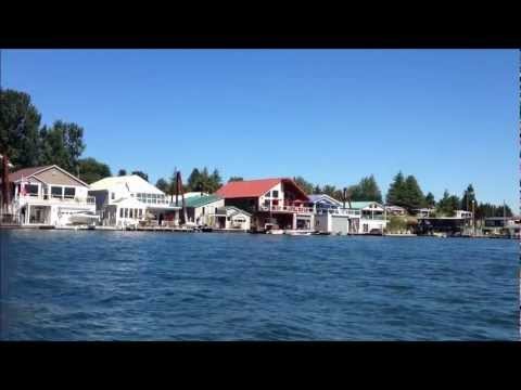 Portland Oregon Floating Homes On The Columbia River Youtube