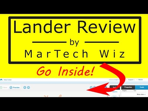 Lander Review 2016 - Inside Walk-through of Landing Page Builder