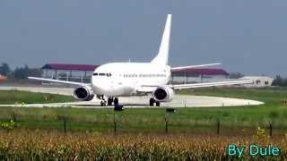 Airport Nikola Tesla Belgrade.  Take-off and landing