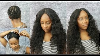 Lace Closure Full Sew In Tutorial | No Leave Out | Sugar Hair